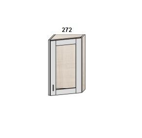 Шкаф скошенный 272 мм витрина