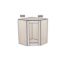 Шкаф угловой 600х600 мм витрина