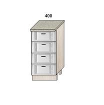 Стол 400 мм 4 ящика