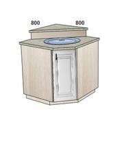 Стол-мойка трапеция 800х800